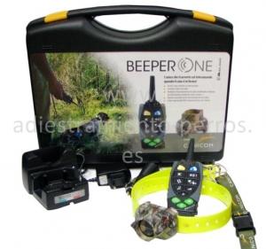 Kit de collar de becada con mando Beeper One - kit completo de collar de becada con mando para perros Beeper One. Mando para llevar hasta 2 collares. Tanto collar como mando recargables