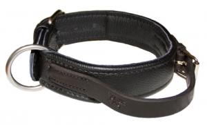 Collar de cuero técnico hecho a mano Julius K9 , Con asa , Collar de cuero