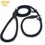Correa lazo de nylon redondo con asa Julius K9 - Correa lazo de nylon redondo de la marca Julius K9. Ideal para el adiestramiento del perro con efecto semiahogo. Con asa para un mejor agarre. En un grosor de 12mm y en dos longitudes de 1,2 y 2 metros. Disponible en color negro.