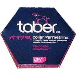 Collar Taber para perros anti pulgas, garrapatas y repelente de mosquitos - Collar Taber indicado para proteger a su perro contra picaduras de pulgas, garrapatas y mosquitos. Elaborado a base de permetrina.