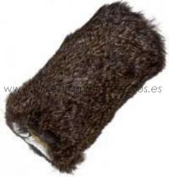 Aport para lanzador - piel de conejo - Señuelo para lanzador de aports con tela recubierta de piel de conejo. Para entrenar perros retriever, springer o de muestra.