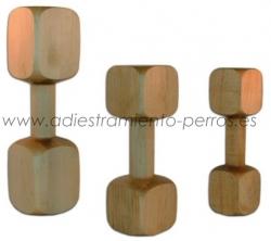 Aport mordedor de madera - Aport de madera de diferentes pesos para iniciar cachorros al cobro, utilizar como juguete o para trabajar el cobro forzado. Aport reglamentario para RCI IPO.