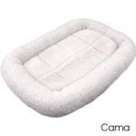 Cama para jaula plegable ABS para perros - Cama para las jaulas plegables ABS. Tambi�n puede usarse en otro tipo de transportines o como cama normal para casa. Fabricada en borreguillo blanco acr�lico. Varios tama�os disponibles.