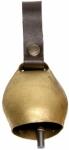 Campana de bronce con badajo de hierro y enganche de cuero - Campana de bronce con badajo de hierro y enganche de cuero. Emite un sonido muy audible en el monte. Muy resistente y de buena calidad.