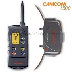 Collar Canicom 1500 con mando de adiestramiento para perros - Collar Canicom 1500 de adiestramiento con mando de pantalla LCD para perros, con 1500 metros de alcance, kit de 1 mando con 1 collar, puede llevar hasta 4 collares (disponibles en opci�n).