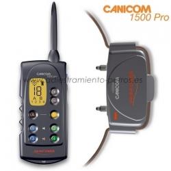 Collar Canicom 1500 Pro con mando de adiestramiento para perros - Collar Canicom 1500 de adiestramiento con mando de pantalla LCD para perros, con 1500 metros de alcance, para controlar hasta 2 perros, 2 jaulas lanzaderas y 2 collares de becada. Kit 1 mando con 1 collar de adiestramiento.