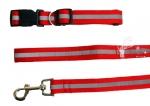 Conjunto Collar y Correa tirador de nylon reflectante - Elegante Conjunto de Collar y Correa tirador de nylon reflectante, con cierre fácil para perros de talla pequeña y mediana.