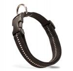 """Collar de nylon reflectante Julius K9 """"IDC luminoso"""" para perros con cierre fácil - Collar de nylon reflectante de alta calidad para perros de todos los tamaños, razas desde muy pequeñas hasta muy grandes. Disponible en negro. De la prestigiosa marca Julius K9."""