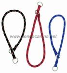 Collar de lazo de nailon grueso redondo para perros - Collar de naylon redondo grueso en forma de lazo para perros. Ideal para el adiestramiento suave de perros pequeños y grandes. Disponible en rojo, azul y negro. Tallas para perros pequeños hasta muy grandes.