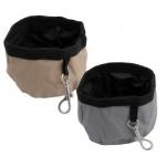 Bebedero - Comedero de viaje plegable para perros - Bebedero - Comedero de viaje plegable para perros de tela impermeable. Disponible en dos tamaños.