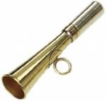 Corneta de latón bronceada para juez de Fieldtrial - Corneta de latón bronceado para juez de Fieldtrial. Ligera y pequeña de sólo 12 cm de longitud. Sonido muy claro y audible.