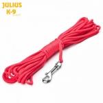 Correa de nylon redondo 4mm/10m natación-Julius K9 - Correa de nylon redondo con mosquetón para natación de la marca Julius K9. Grosor de 4mm y longitud de 10 metros. Disponible en color negro y rojo.
