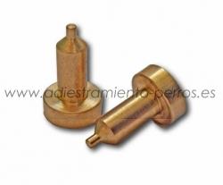 Electrodos de latón para collar Dogtra - largos (par) - Electrodos profesionales de latón para collares de adiestramiento Dogtra. Modelo largo.