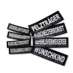 Etiqueta-logo 100 % personalizado para arneses Julius K9 - Etiquetas y logos personalizados para colocar en los arneses Julius K9 de todas las tallas. Adaptables a cualquier arnés y collar Julius K9 que disponga del espacio velcro para colocarlas.