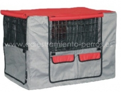 Funda para Jaula met�lica para perros plegable y econ�mica con bandeja ABS - Funda para Jaula met�lica para perros plegable y econ�mica con bandeja de ABS de tela resistente para proteger a su perro contra el fr�o y el agua.