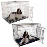 Jaula met�lica para perros plegable y econ�mica con bandeja ABS - Jaula met�lica para perros plegable y econ�mica con bandeja ABS, robusta y muy segura. Dise�ada para perros de todos los tama�os. Disponible en color blanco y en negro.