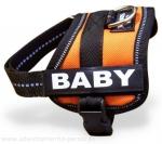 """Arnés para razas miniaturas Julius K9 modelo """"Power k9 Baby"""" - Arnés Julius K9 modelo """"Power k9"""" de paseo y de adiestramiento canino para razas miniaturas. El único arnes que se pone sin levantar las patas de su perro! Disponible en negro, rojo, azul marino, azul cielo, kiwi, camuflaje, naranja, rosa, morado, agua marina, gris y beige. Disponibles opcionalmente etiquetas personalizadas."""
