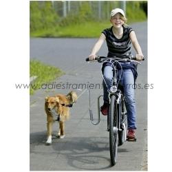 Adaptador con Muelle para el paseo en bicicleta con mi perro - Adaptador con Muelle especialmente diseñado para que usted pueda pasear en bicicleta con su perro con total tranquilidad y seguridad.