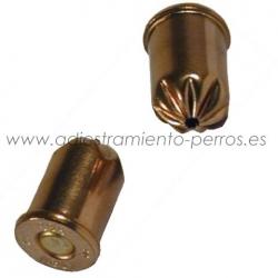 Munición para revolver detonador 9 mm - Munición para revolver detonador de 9 mm. Se proporciona en caja de 50 pistones de fogueo.
