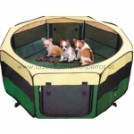 Parque plegable de loneta - Parque plegable de loneta fuerte con 8 elementos, ideal para cachorros o para que su perro tenga un espacio donde jugar sin tener acceso a todo el jardin o la casa.