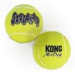 Pelota de tenis para perros Kong Squeakair - Pelota de tenis para perros con sonido. Clásica pelota de tenis con la resistencia de los materiales Kong. Con pito interno que suena al apretar para motivar al perro.