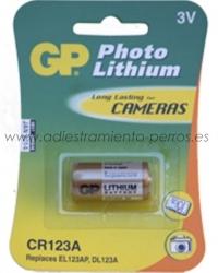 Pila litio 3V CR123A para Collares antiladridos Canicalm - Pila de litio 3V CR123A para Collares antiladridos de la marca Canicom: Canicalm, y para algunos modelos de collares de becada Canibeep.