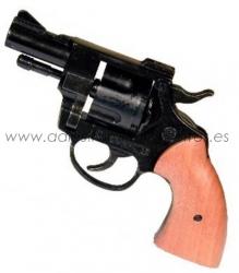 Revolver detonador 9 mm - Revolver detonador 9 mm para iniciar cachorros o para concursos de caza y RCI. Dispone de 5 tiros (5 balas en carga máxima).