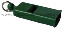 Silbato profesional italiano verde German - Silbato profesional italiano verde German plano sin bola. El silbato más utilizado por los adiestradores profesionales.