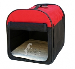 Transport�n de Nylon Petcarrier - Transport�n de Nylon Petcarrier plegable para viajar c�modamente con su perro. Disponible en tama�o peque�o.
