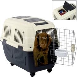 Transportin para perros Traveler con ruedas - Transportin para perros Traveler, robusto y elegante dispone de una ventilación excelente. Para perros medianos y grandes.