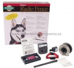 Kit completo de valla invisible Radio-Fence Super - Valla invisible Radio-Fence Super, para evitar que tu perro se escape del jardín sin tener que vallarlo con cercado aparente. Especial perros grandes.