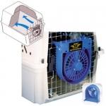 Ventilador para transportin para perros - Ventilador para coplar en la puerta del transportin. Muy útil para refrescar al perro y mantener una buena ventilación dentro del transportin. Funciona con pilas.
