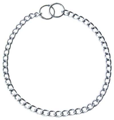 Collar educativo de ahogo con cadena de eslabón fino Sprenger , Cromado , Collar metálico de