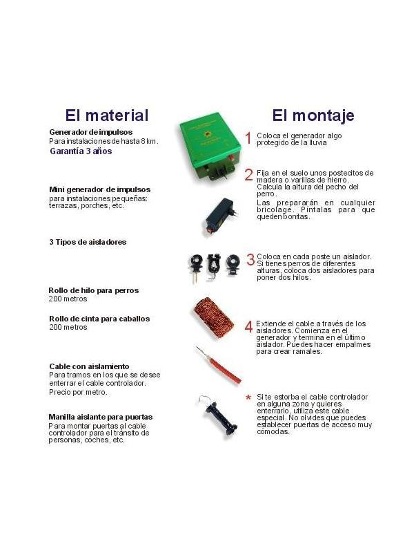 Pastor eléctrico - Aisladores para madera, metal y plástico - Aisladores para evitar la pérdida del impulso a través de las piquetas. Disponible para distintos materiales: madera, metal y tubos.