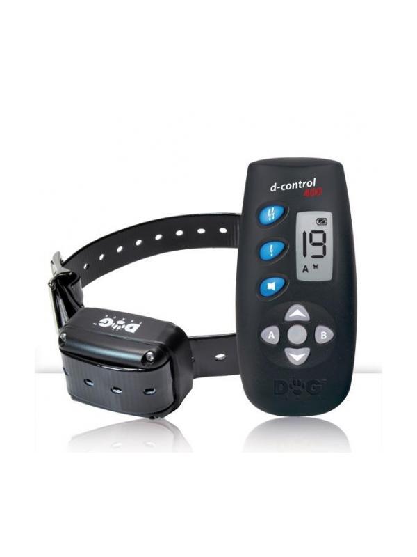 Collar de adiestramiento Dogtrace 400 - Collar de adiestramiento Dogtrace 400. Puede usarse con 1 ó 2 perros y alcanza hasta 250 metros. Funciona con pila CR2. Tiene 20 niveles de impulso contínuo, botón booster y aviso sonoro.