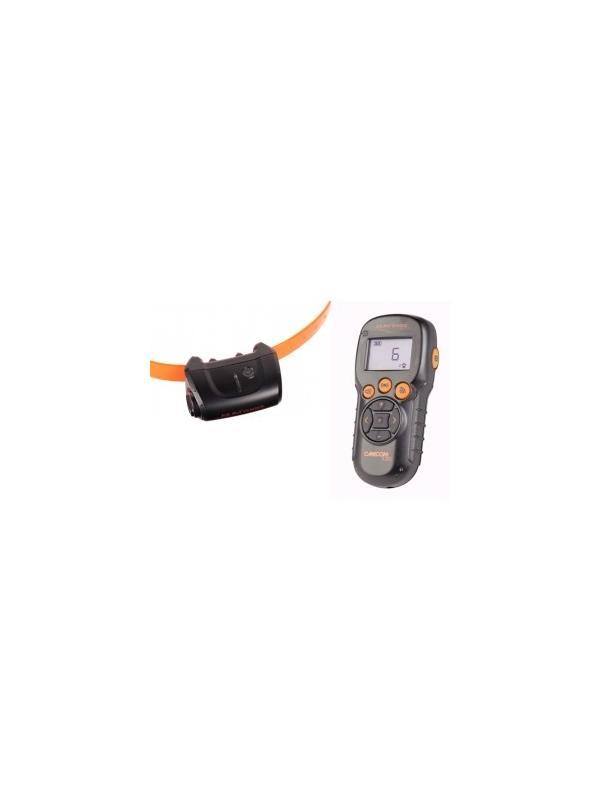 Collar de adiestramiento Canicom 5.202 - Collar de adiestramiento por impulsos Canicom 5.202. Puede usarse con uno o dos perros, alcanza hasta 200 metros. Funciona con pila CR2. Tiene 10 niveles de impulso contínuo, botón booster, vibración y aviso sonoro.