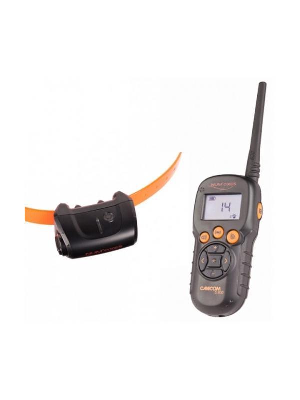 Collar de adiestramiento Canicom 5.800 - Collar de adiestramiento Canicom 5.800. Puede usarse con uno o dos perros y alcanza una distancia de hasta 800 metros. Mando y collar funcionan con pila CR2. Tiene 20 niveles de impulso contínuo, botón booster, vibración y aviso sonoro.