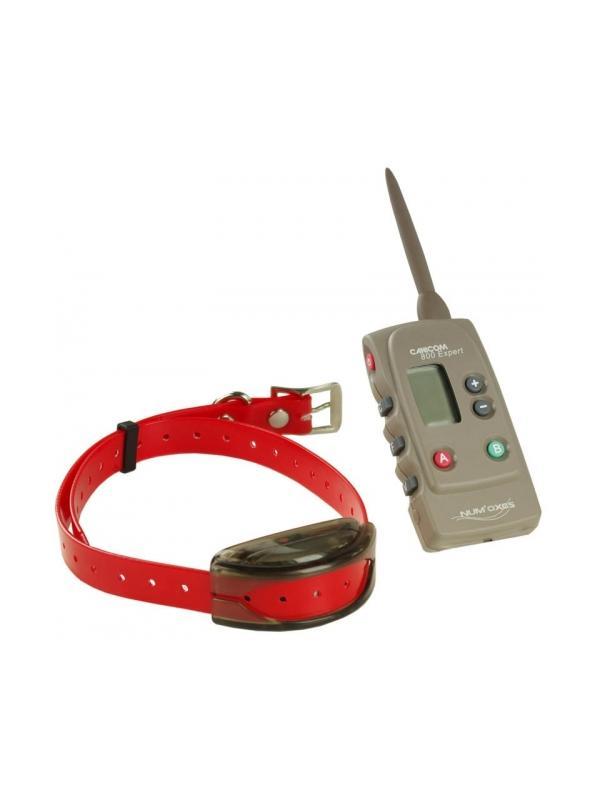 Collar de adiestramiento Canicom Expert 800 - Collar de adiestramiento Canicom Expert 800. Para usar con hasta dos perros a la vez en una distancia máxima de 800 metros. Collar con batería recargable y mando con pila de 3V CR2. Con 15 niveles de estimulación, aviso por vibración y botón Booster.