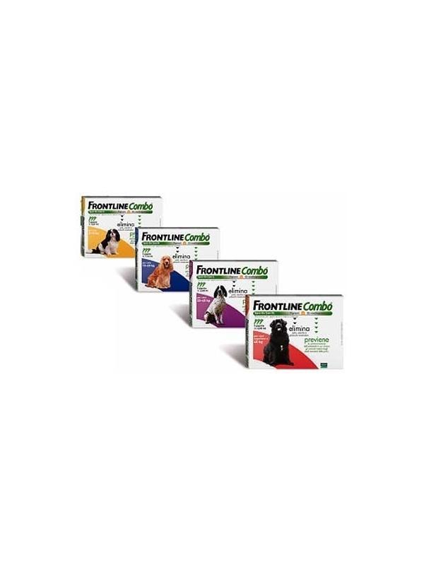 Pipetas Frontline Combo para perros anti pulgas, garrapatas y piojos - Pipetas Frontline Combo para el tratamiento y prevención de las infestaciones por pulgas, garrapatas y control de los piojos en perros. Envases de 3 y 6 pipetas. Para perros de diferentes pesos.