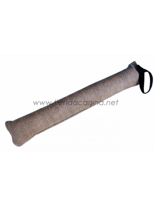 Mordedor de yute económico de 60cm para perros - Mordedor motivador para perros de yute económico. Con asa para un agarre más firme y 60 cm de longitud.