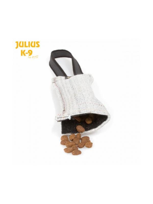 Mordedor rellenable con velcro y asa Julius K9 - Aport rellenable con velcro y asa. Fácilmente rellenable con premios para motivar más al perro a morder. Ideal para inicar al perro en trabajos de defensa.