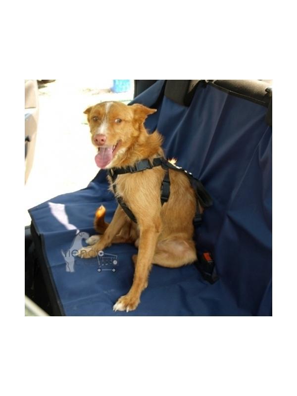 Arnés para perros de seguridad para coche - Arnés de seguridad acolchado para coche, hecho de la misma fibra que los cinturones de seguridad. Ideal para atar el perro con acople de cinturón.