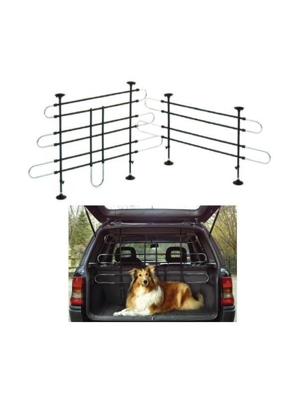 Barra fija separadora adaptable para coche - Barra fija separadora adaptable para coche de gran resistencia, que puede conseguir que el más movido de los perros, no nos moleste durante el viaje.