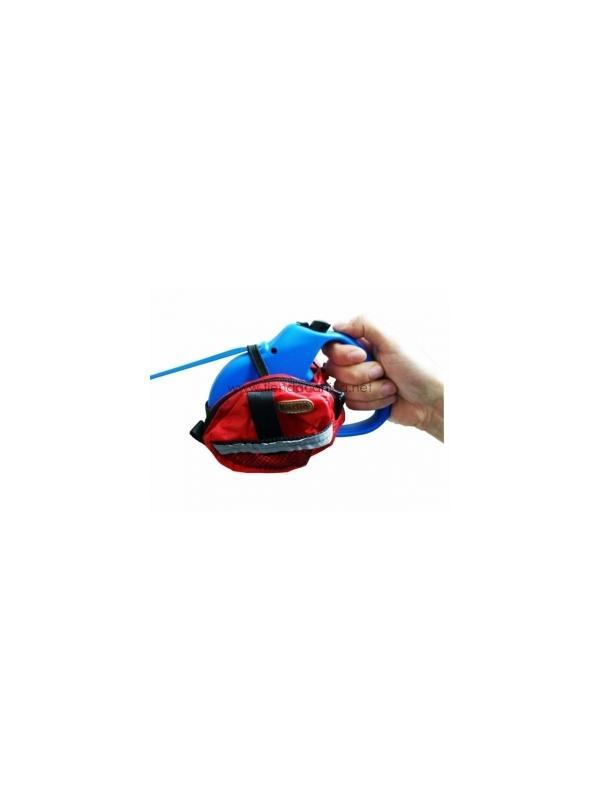 Bolso doble para correa flexi - Bolso doble para correa flexi, se usa como porta-premios, para llevar las bolsitas para la caca o para tener donde meter las llaves de casa durante el paseo