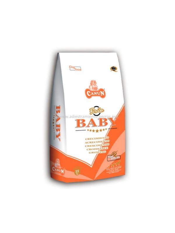Pienso Canun Superpremiun Brio baby - Pienso para perros de la marca Canun, el Superpremium Brio baby es ideal para cachorros a partir de 6 semanas hasta 12 meses y para hembras en gestación o lactación. Disponible en sacos de 5 y 15 kg.