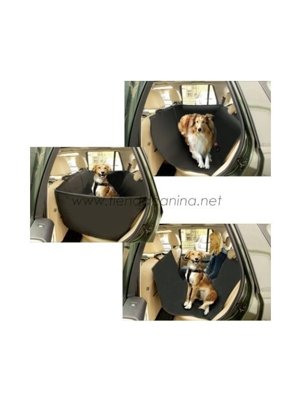 Cabina Protectora de Asiento trasero para Coche - Cabina Protectora de Asiento trasero diseñada para llevar al perro de viaje sin dejar los tapizados del coche llenos de pelo y suciedad.