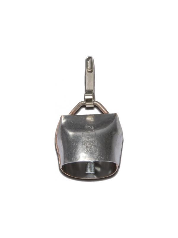 Campana de acero Chamonix con enganche para perros - Campana de acero al carbono Chamonix 2/0. Con mosquetón de pinza para enganchar en el collar. Sonido muy audible en el campo.
