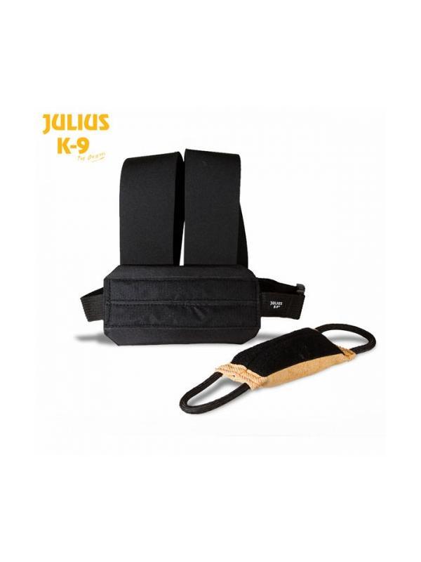 Chaleco simple de entrenamiento con mordedor de velcro - Chaleco de entrenamiento simple con mordedor de velcro incluído. Ideal para el entrenamiento de la llamada en perros de deporte o para entrenamiento con bozal.