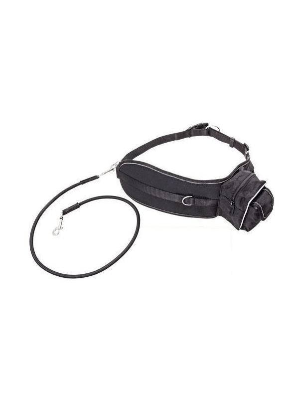 Cinturón de jogging económico para correr con perros - Cinturón de jogging completo económico. Ideal para hacer canicross con el perro. Con cinturón ajustable con bolsillo y correa flexible anti-tirones.