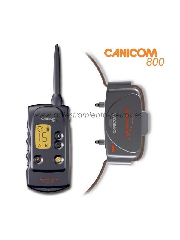 Collar Canicom 800 con mando de adiestramiento para perros - Collar Canicom 800 de adiestramiento con mando de pantalla LCD para perros, con 800 metros de alcance. Equipo de 1 mando con 1 collar, el mando puede llevar hasta 2 collares (disponibles en opcion).